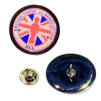 Superior Badge 25mm round silv clutch and printed dome